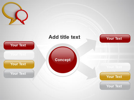 Dialog Bubbles PowerPoint Template Slide 14
