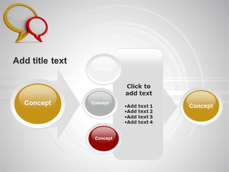 Dialog Bubbles PowerPoint Template Slide 17