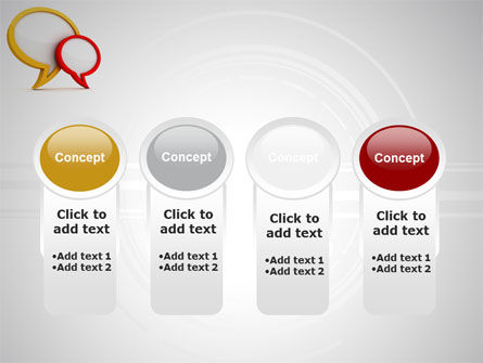 Dialog Bubbles PowerPoint Template Slide 5