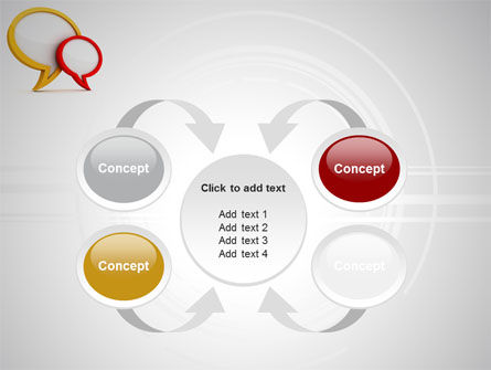 Dialog Bubbles PowerPoint Template Slide 6