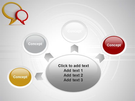 Dialog Bubbles PowerPoint Template Slide 7