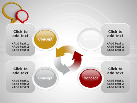 Dialog Bubbles PowerPoint Template Slide 9