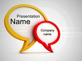 Careers/Industry: Dialog Bubbles PowerPoint Template #10611