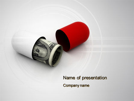 Financial/Accounting: Money Pill PowerPoint Template #10612