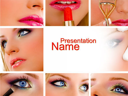 Careers/Industry: Makeup PowerPoint Template #10614