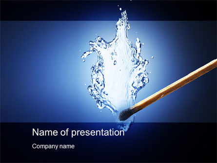 Business Concepts: Water Match PowerPoint Template #10615