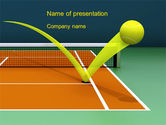 Technology and Science: Tennis Ball Trajectory PowerPoint Template #10616