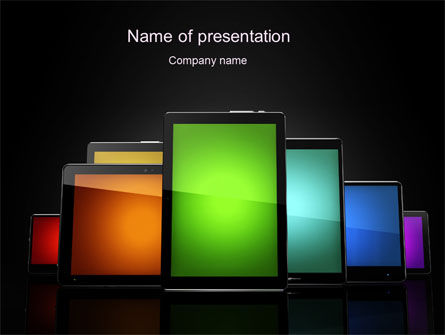 Tablet PCs PowerPoint Template, 10618, Technology and Science — PoweredTemplate.com