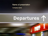 Cars and Transportation: Departures PowerPoint Template #10619