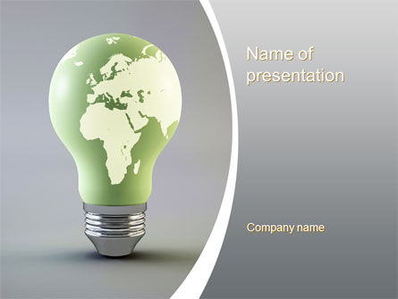 Nature & Environment: World Energy Bulb PowerPoint Template #10623