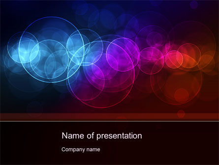Abstract/Textures: Light Color Spots PowerPoint Template #10624