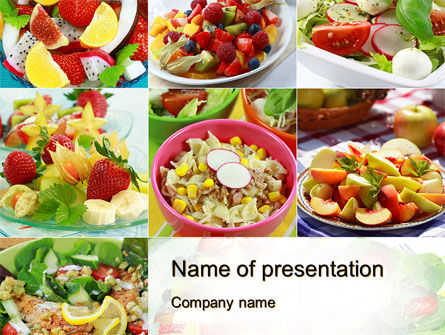 Food & Beverage: Salads PowerPoint Template #10625