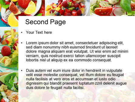 Salads PowerPoint Template, Slide 2, 10625, Food & Beverage — PoweredTemplate.com