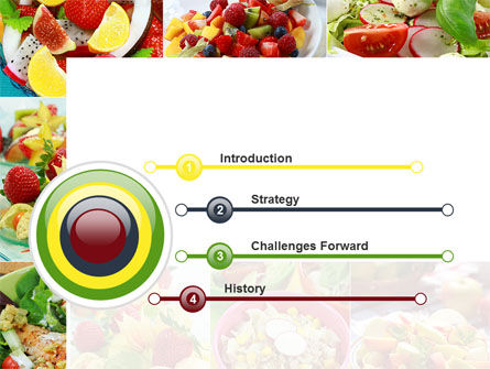 Salads PowerPoint Template, Slide 3, 10625, Food & Beverage — PoweredTemplate.com