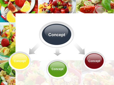 Salads PowerPoint Template, Slide 4, 10625, Food & Beverage — PoweredTemplate.com