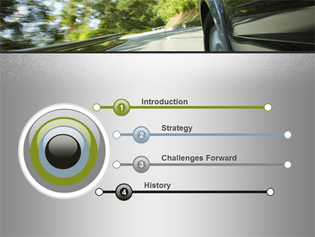 Driving on Winding Road PowerPoint Template Slide 3
