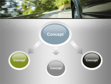 Driving on Winding Road PowerPoint Template Slide 4