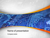 Technology and Science: Chip Design PowerPoint Template #10627