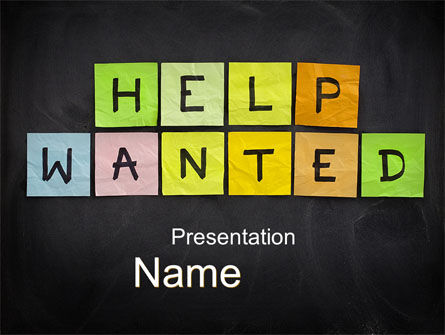 Help Wanted on Blackboard PowerPoint Template