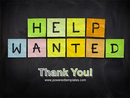 Help Wanted on Blackboard PowerPoint Template Slide 20