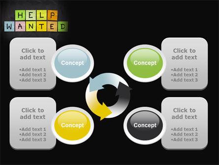 Help Wanted on Blackboard PowerPoint Template Slide 9