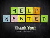 Help Wanted on Blackboard PowerPoint Template#20