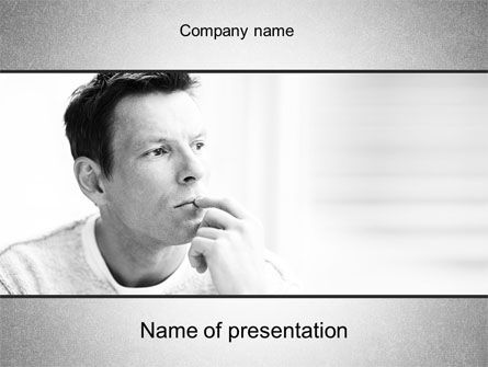 People: Thinking Man PowerPoint Template #10630