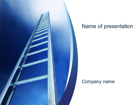 Career Ladder PowerPoint Template, 10632, Careers/Industry — PoweredTemplate.com