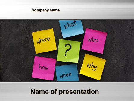 Curiosity PowerPoint Template, 10633, Education & Training — PoweredTemplate.com