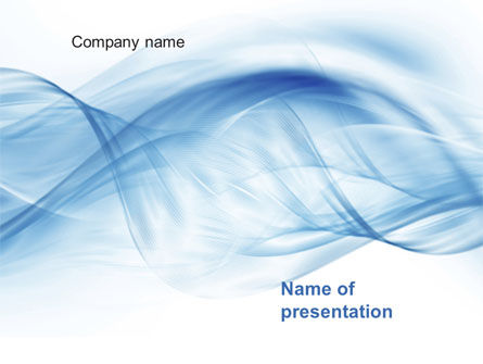Abstract/Textures: Blue on White PowerPoint Template #10634