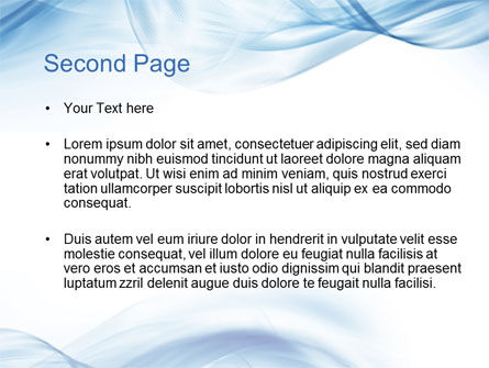 Blue on White PowerPoint Template Slide 2