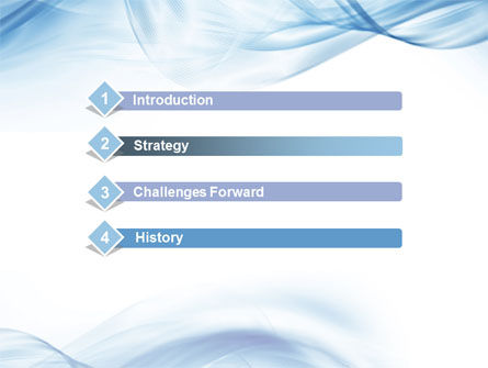Blue on White PowerPoint Template Slide 3