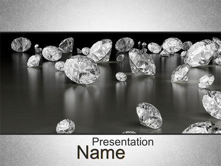 Careers/Industry: Sprinkle of Diamonds PowerPoint Template #10636