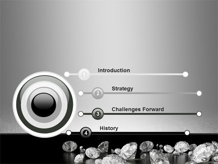Sprinkle of Diamonds PowerPoint Template Slide 3