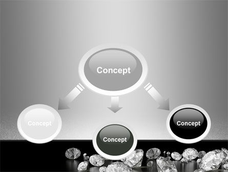 Sprinkle of Diamonds PowerPoint Template Slide 4