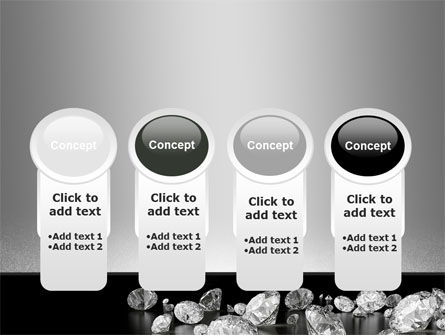 Sprinkle of Diamonds PowerPoint Template Slide 5