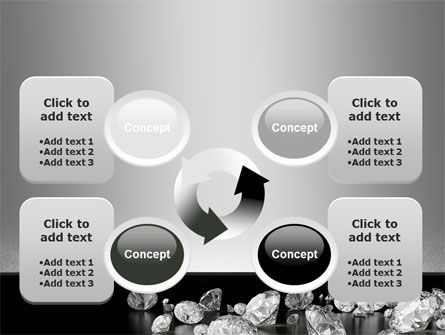 Sprinkle of Diamonds PowerPoint Template Slide 9