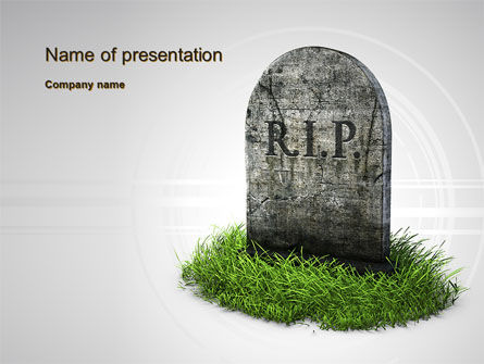 Careers/Industry: RIP PowerPoint Template #10637