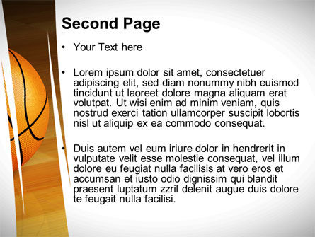 Basketball on Floor PowerPoint Template, Slide 2, 10638, Sports — PoweredTemplate.com