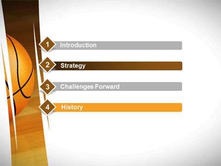 Basketball on Floor PowerPoint Template, Slide 3, 10638, Sports — PoweredTemplate.com