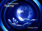 Technology and Science: Virtualization PowerPoint Template #10640