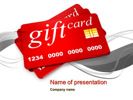 Gift Card PowerPoint Template, 10641, Careers/Industry — PoweredTemplate.com