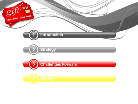 Gift Card PowerPoint Template, Slide 3, 10641, Careers/Industry — PoweredTemplate.com
