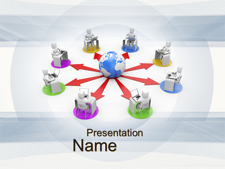 Distance Learning PowerPoint Template, 10642, Education & Training — PoweredTemplate.com