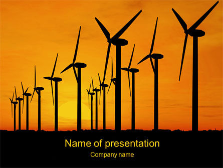 Wind Generators PowerPoint Template, 10643, Technology and Science — PoweredTemplate.com