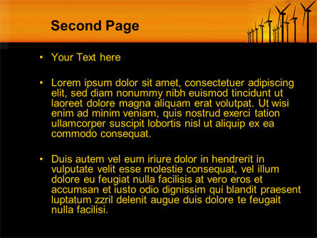 Wind Generators PowerPoint Template, Slide 2, 10643, Technology and Science — PoweredTemplate.com