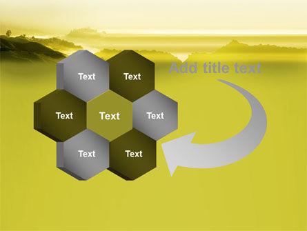 Morning on Tea Plantation PowerPoint Template Slide 11