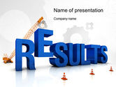 Business Concepts: Building Resultaten PowerPoint Template #10645
