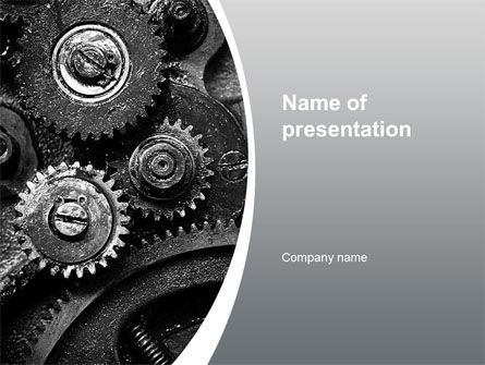 Well Oiled Machine PowerPoint Template, 10646, Utilities/Industrial — PoweredTemplate.com