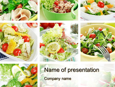 Salad Recipes PowerPoint Template